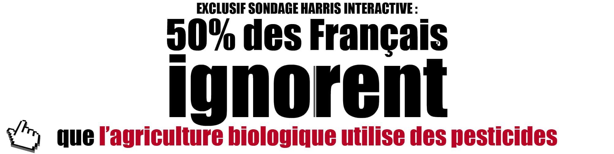 Un Français sur deux ignore que l'agriculture biologique utilise des pesticides