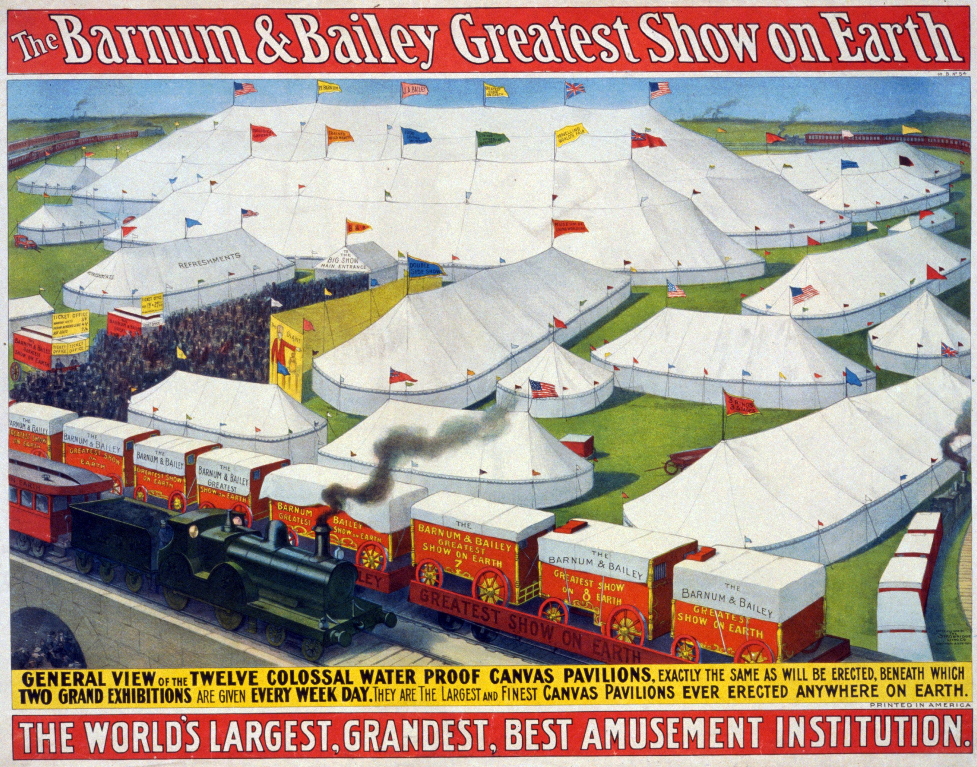 Une affiche du cirque Barnum datant de 1899