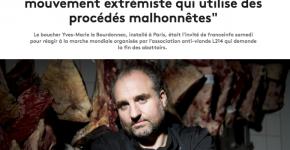 """Le coup de gueule d'un boucher contre L214, """"mouvement extrémiste"""""""