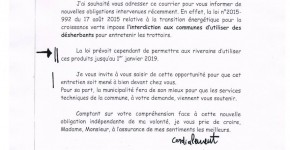 lettre maire
