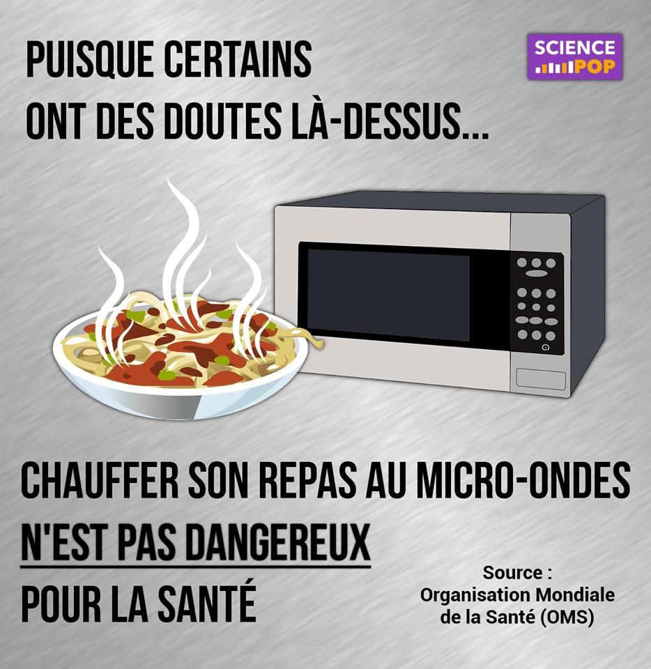 Micro Onde Au Dessus Du Four chauffer son repas au micro-ondes n'est pas dangereux pour